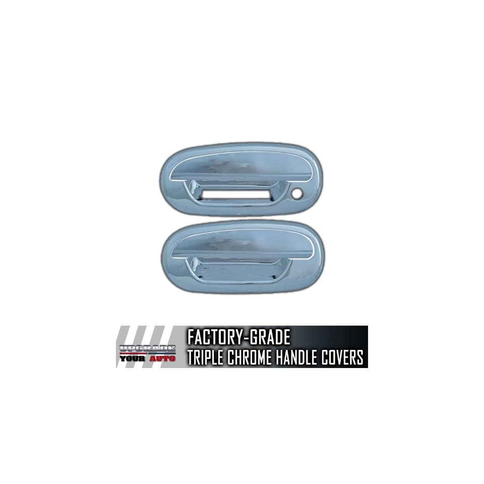 1997 2004 Ford F150 2dr Chrome Door Handle Covers (With Keypad, No Passenger Keyhole)