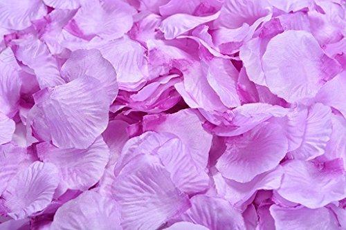 La Tartelette Silk Rose Petals Wedding Flower Decoration (2000 Pcs, Violet)