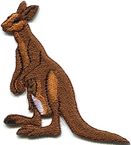 Kangaroo Australia Roo Boomer Marsupial Animal Applique Iron-on Patch New S-685 Handmade Design From -