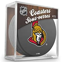 Sher-Wood Ottawa Senators NHL Eishockey Puck Untersetzer (4er Set)