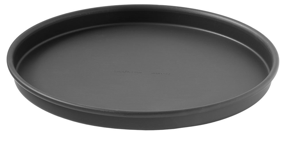 LloydPans 12 Inch by 1 Inch Straight Sided Pizza Pan, 12 Per Case, Hard Anodized Aluminum, PSTK, Rolled Rim for Strength and Grip. Made in the USA