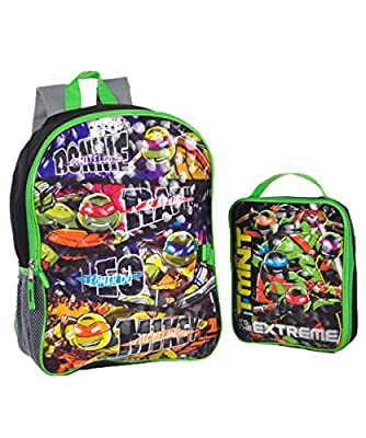 Teenage Mutant Ninja Turtles Boys' Backpack with Lunch Kit