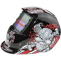 TOOGOO 2018 Nuevo Pro Mascara soldador solar Casco de soldadura de oscurecimiento automatico Patron cabeza de