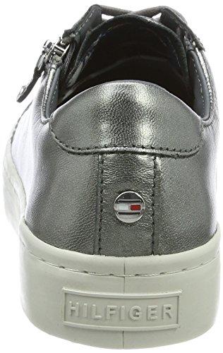J1285upiter Silver Hilfiger dark Silver Sneakers Low top 2z2 Tommy Women''s x0wqHxB