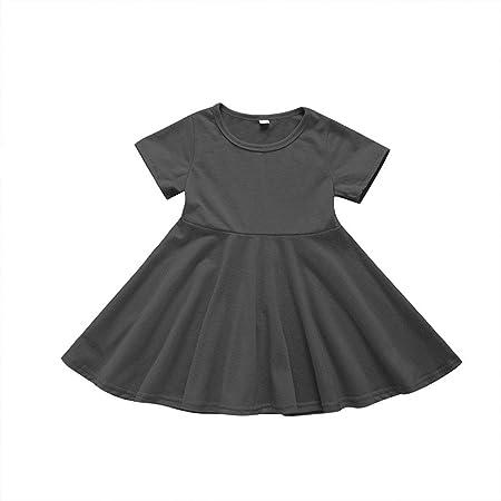 ZXB Bebé Niño Infantil Niña Algodón Color sólido Falda de una ...