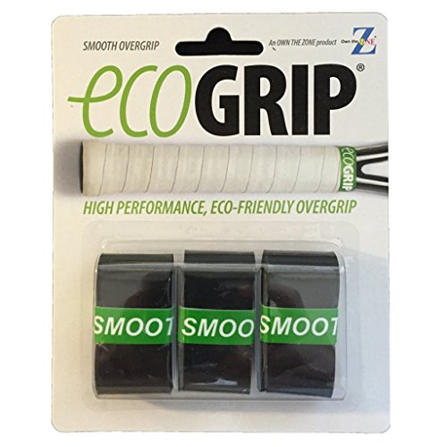 OTZ ECO Tennis Overgrip - Biodegradable - Black - Smooth - 3 Pack