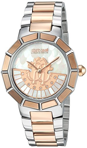 f739de859e30 Roberto Cavalli by Franck Muller Women s  Rotating DIAL  Quartz Stainless  Steel Casual Watch
