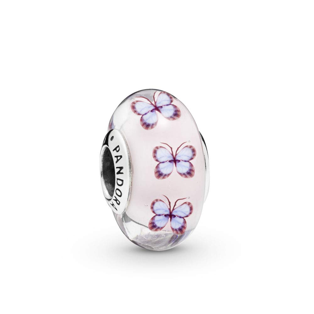 PANDORA Butterfly Glass 925 Sterling Silver Charm - 797893