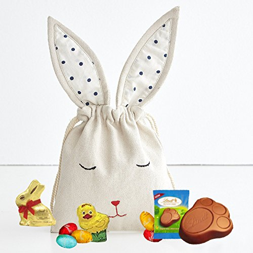 Lindt Mini Easter Bunny Hamper Bag - Lindt Mini Gold Bunny, Lindt Mini Chick, Lindt Gold Bunny Paw, Lindt Mini Eggs