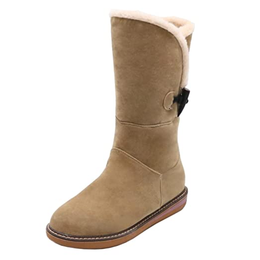 Women's Boots Pull On Warm Lined