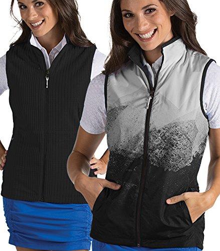 Antigua Ladies Compass Reversible Vest Black/White X-Large
