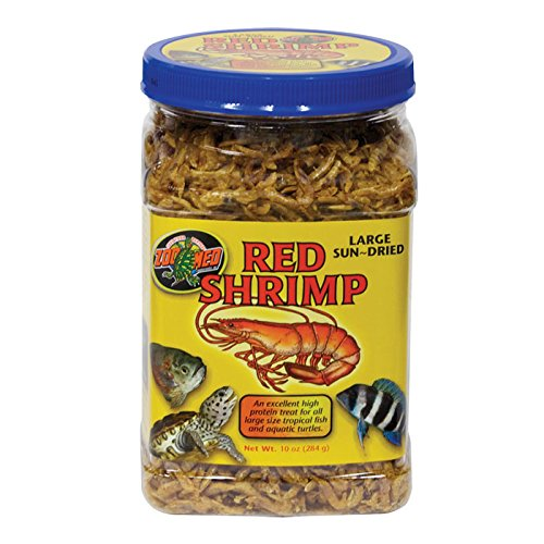 Large Sun-dried Red Shrimp 10 oz. by Zoo (Zoo Med Aquatic Turtle Food)