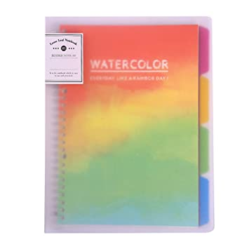 B5 Binder Portfolio Notebook with 26 Rings//Holes 5 Subject Spiral Paper 4 PP /&