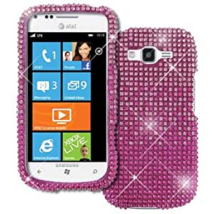 AT&T For Samsung Focus 2 I667 Full Diamond Bling Hard Case Cover, Hot Pink to Pink Fade