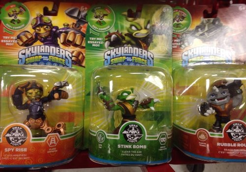 Skylanders Swap Force STINK BOMB SPY RISE, RUBBLE ROUSER Series 3 NEW NOT AVAILABLE IN STORES