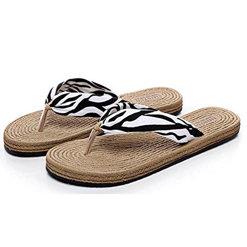 SHANGXIAN zapatillas antideslizantes playa de las mujeres de la cuña de la sandalia a