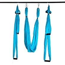 Agptek Yoga Straps Trapeze - Yoga Swing/Sling/Inversion Tool, Aerial Yoga Supplies Swing Inversion Trapeze Series Yoga Class Accessories,Yoga Straps and Sling Hammock