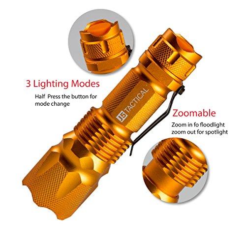 J5 Tactical V1-Pro Flashlight The Original 300 Lumen Ultra Bright, LED 3