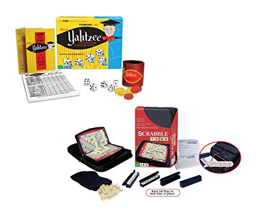 Mozlly Value Pack - Classic Yahtzee AND Scrabble To Go - Portable Set (2 items) - Item #K119025-119031 by Mozlly