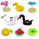 Keledz Inflatable Drink Cup Holder Floats Floating Coasters with Mini Air Pump for Pool Party