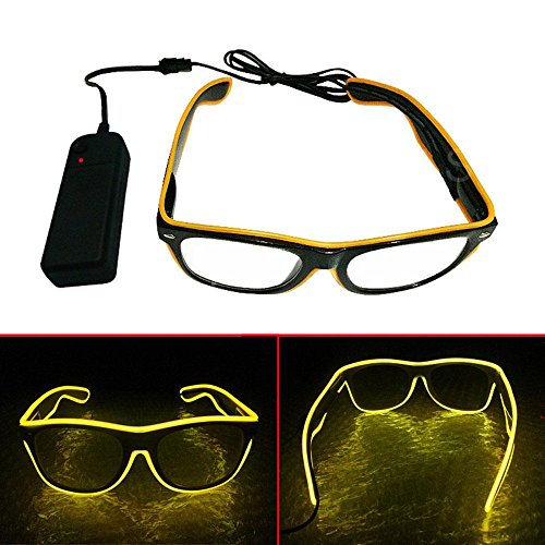 Leegoal LED Flashing Glasses, El Wire Glow Glasses,