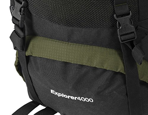 TETON Sports Explorer 4000 Internal Frame Backpack; High-Performance Backpack for Backpacking, Hiking, Camping 6 NOT YOUR BASIC BACKPACK: Continues to be the top selling internal frame backpack on Amazon at a great price for all the included features VERSATILE QUICK TRIP PACK: Perfect backpack for men, woman and youth; best for 3-5-day backpacking trips; 3400 cubic inches (65 L) capacity; weighs 5 pounds (2.3 kg) COMFORT YOU CAN CUSTOMIZE: Multi-position torso adjustment fits wide range of body sizes; Durable open-cell foam lumbar pad and molded channels provide maximum airflow and balance