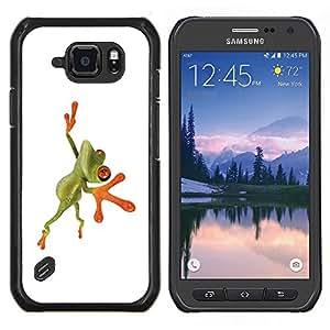 "Be-Star Único Patrón Plástico Duro Fundas Cover Cubre Hard Case Cover Para Samsung Galaxy S6 active / SM-G890 (NOT S6) ( Naranja Rana de la selva"" )"