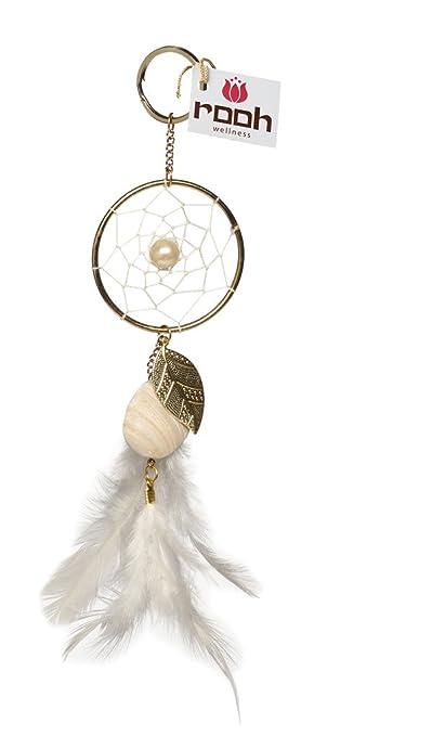Rooh Dream Catcher White Keychain