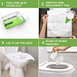Toilet Seat Covers Paper Flushable (50 Pack) - XL