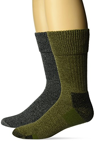 Dr. Scholl's Men's Advanced Relief BlisterGuard Casual Crew Socks-2 Pair Pack, Olive, Green, Gray, Shoe Size: 7-12