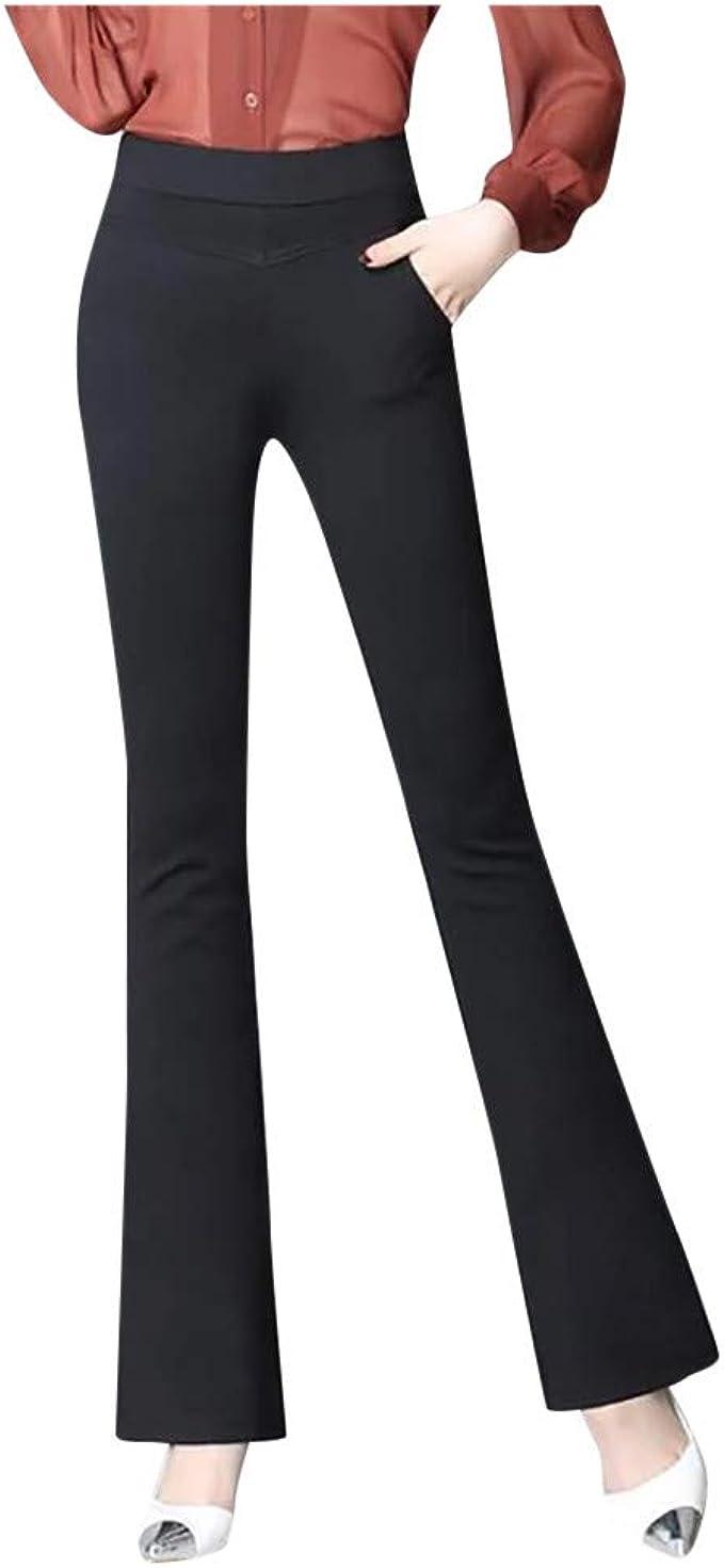 unique design best loved newest FEDULK Womens Office Workwear Dress Pants High Waist Stretch ...