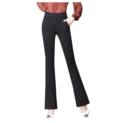 Zarupeng Pantalones Casual Mujer Bootcut Elástico ...