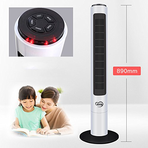 wer fan,Floor mini air conditioning,Bladeless quiet with remote control air cooler 4 caster wheels for bedroom -C ()