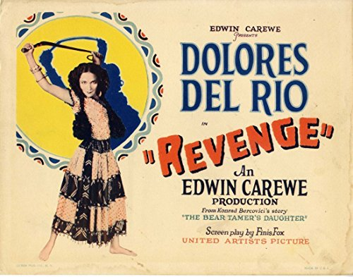 REVENGE (1928) Title lobby card feat. Dolores del Río in gypsy garb ART DECO (Card Feat)