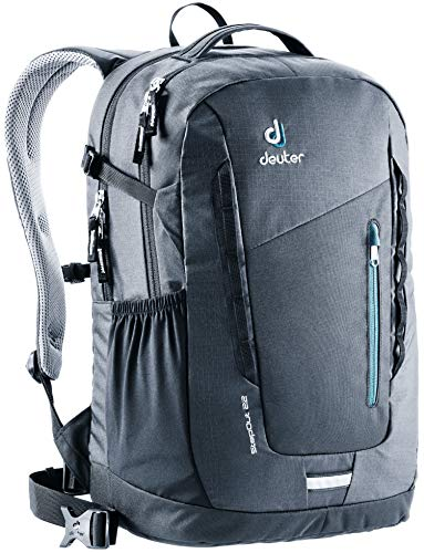 Deuter StepOut 22 Men's 22 Liter Backpack with Ventilated Back and External Compartments | PFC Free and Internal Organization for Business, Travel, School, and Everyday - Black