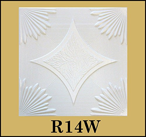 tin-look-glue-up-ceiling-tiles-20x20-styrofoam-extruded-polystyrene-r14w-lot-of-8