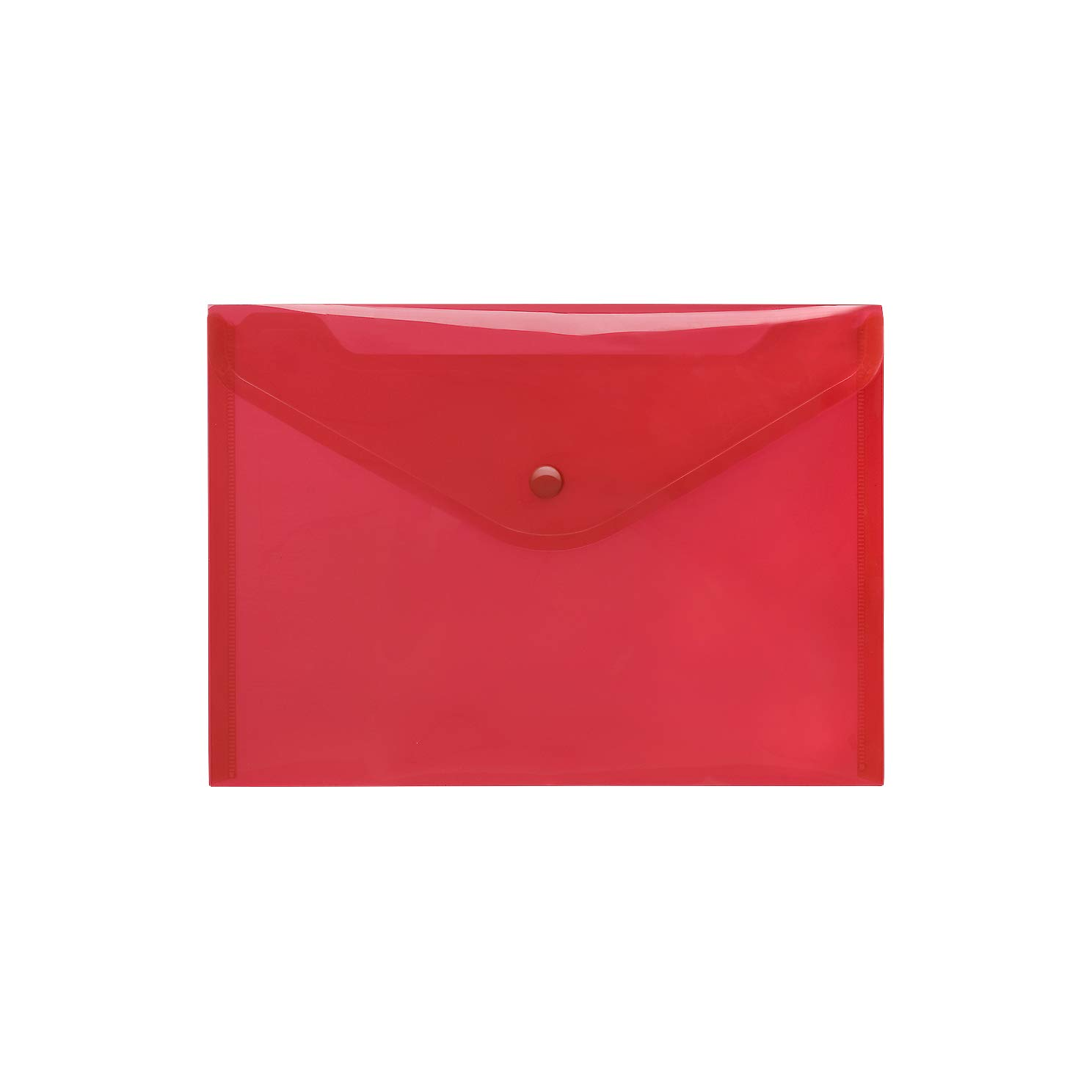 rot Transparent PP Umschlag A5/Druckknopf Klassische klare 10/St/ück