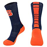 NCAA Syracuse Orange Men's Champ Performance Crew Socks,Navy/Orange,Mens Large 10-13