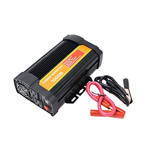 1000 Watt 12V Power Inverter Dual 110V AC Outlets with 2.1A Dual USB Car Adapter for Blenders, Vacuums, Power Tools. by SPEAUTO (Image #6)