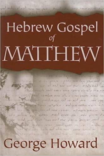 Image result for (The Gospel of Matthew according to a Primitive Hebrew Text)