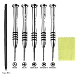 QNINE Screwdrivers Set 6pcs Repair Tool Kit for MacBook Air & Pro, fit All Old or Retina Display Models A1278 A1286 A1297 A1425 A1502 A1398 A1465 A1466 A1369 A1370 A1534