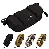 Selighting Sunglasses Carrying Case Tactical Molle Zipper Eyeglasses Hard Case with Clips (Black)