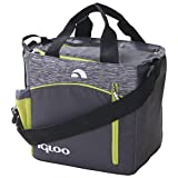 Igloo Stowe Mini City 9 Insulated Soft Cooler (9 Cans), Grey/Lime