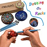 Meuxan 10 Piece Dotting Tools Ball Styluses for Mandala Rock Painting, Pottery Clay Craft, Embossing Art