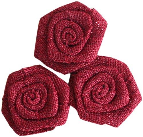 (Maya Road BUR2257 Burlap Roses Embellishments, Barn)