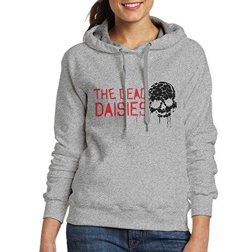 Guns N Roses Slash Costume (Bekey Women's The Dead Daisies Skull Hoodie Sweatshirt XXL Ash)