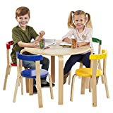 ECR4Kids Bentwood Curved Back Chair Table Furniture Set, Premium Kids Table Chairs Set Homes, Daycares Classrooms, Assorted For Sale