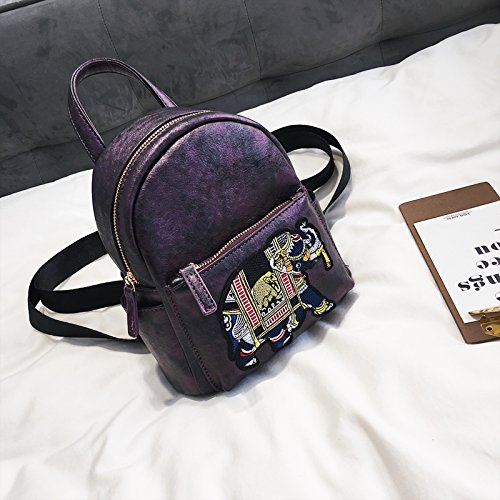 Version Violet Fashion 2018 Bag Female Personality New Small Mini Backpack Shoulder Korean Version Backpack Zq7Ow6x