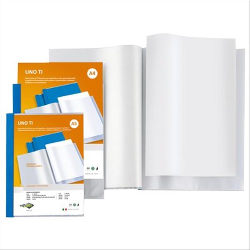 Favorit 100460323 Portalistino Personalizzabile con 6 Buste Formato Interno 22X30 cm Copertina con Tasca Trasparente