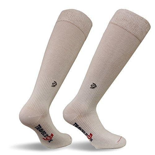 Travelsox Adult Compression Socks, Medium, White TSC1000HC ()